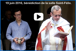 Bénédiction de la nouvelle salle de Saint-Félix le 19 juin 2016